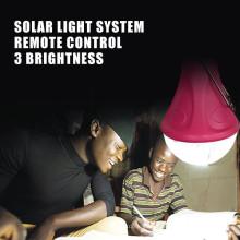 Aprovação CE recarregável led de iluminação de emergência de carro para kits de iluminação solar portátil de casa/acampar, interior