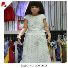 JannyBB white flower lace for toddler dress