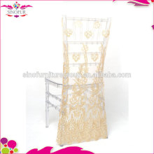 sequin pattern wedding chair cover for party