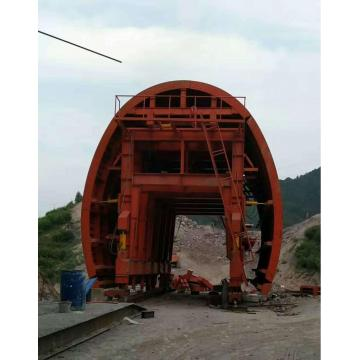 Construction de coffrage de chariot de tunnel ferroviaire
