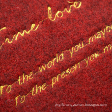 Non-slip clean house embroidery custom door mat