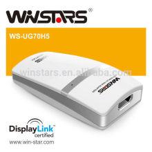 5Gbps Super Speed Usb Adaptador 3.0 a DVI com saída de áudio e vídeo, adaptador gráfico USB 3.0