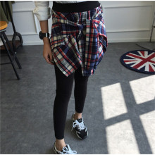 Vente en gros de femmes coréennes de mode à carreaux jupe jambières
