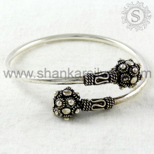 Fournisseur de bracelets de style brillant Fine Sterling Indian Silver Jewelry