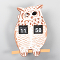 ABS Owl Flip Clock para la decoración