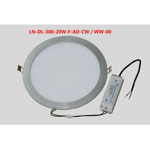 LED Panel down Light 20W 100 To 240v AC,1100 To 1200lm CE ROHS certification,3 years warranty