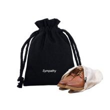 Reusable Eco-friendly Printing Logo Canvas Drawstring bags Cotton Shoe bag for shoes