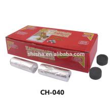 Carvão vegetal do cachimbo de água Shisha Charcoa Tablet ouro rio