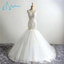 2017 Quality-Assured New Fashion Tulle Beading Mermaid Wedding Dress