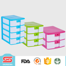 4 слой небольшой пластиковый А4 стол ящик для хранения пластиковой коробке для продажи