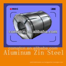 Aluzinc bobina de acero AZ100g/m2, Galvalume acero galvanizado, mejor calidad de China
