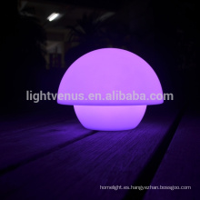 nueva lámpara de mesa con remoto aplicación Mobile control arco iris cambia de Color LED restaurante mini seta lámparas de escritorio