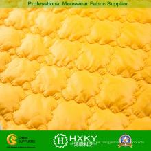 Tela acolchada de color amarillo para chaqueta acolchada