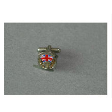 Silver Plated Metal Cufflinks with Flag Logo (GZHY-XK-009)