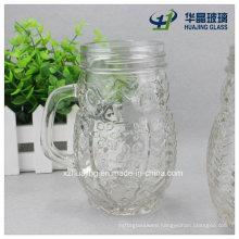 400ml 14oz Unique Owl Shaped Drinking Mason Glass Jar