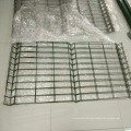 curved fencing 3d panels coated border green garden wire mesh fence with v folds