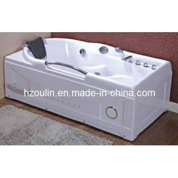 Baignoire de massage hydromassante blanche acrylique de tourbillon (OL-634)