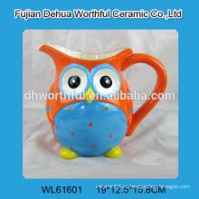 Taza de cerámica de diseño creativo en forma de búho para la venta al por mayor