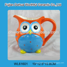 Creative design ceramic mug in owl shape for wholesale