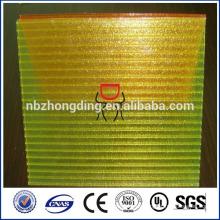 hoja de policarbonato hueco de doble pared