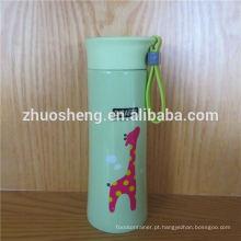 promoção alto grau colorido parede dupla inox garrafa de vácuo