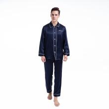 Conjuntos de pantalones de pijama para hombres Silk 19 Momme Sleepwear