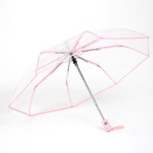 paraguas plegable completamente automático transparente ver pvc