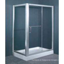 Australiano padrão AS / NZS2208 vidro temperado de alumínio moldura Walk in recinto chuveiro bandeja (h005)