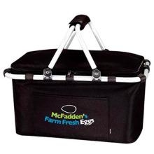Promotional Custom Collapsible Picnic Basket Cooler Bag