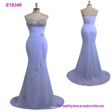 Nova chegada tecido de linho mulheres vestido de noite MIDI Wrap Dress