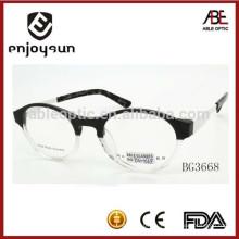 2015 nuevos anteojos ópticos del acetato del mens del color del doble del diseño marco eyeglasses
