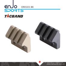 Tacband Keymod 45 Degree Offset Picatinny Rail Flashlight/Accessory Mount Tactical Flashlight (3 slot/1.5 inch) Black