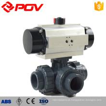 Alavanca operado plástico upvc 3 way válvula de água