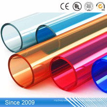 Low price Colorful hard PP plastic transparent tube