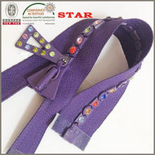 Zippers de diamante No. 8 para prendas distintas