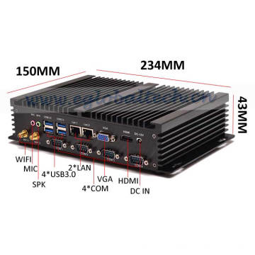 Ordinateur industriel Mini Server I5 sans ventilateur PC Windows10 2intel 82574L Nics Desktop