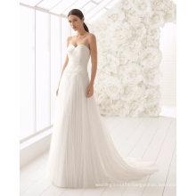 Long Sleeve Bolero Sweetheart Pleat Tulle Bridal Gown Wedding Dress
