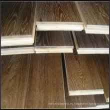 Ahumado y cepillado White Oil Engineered Oak Wood Flooring