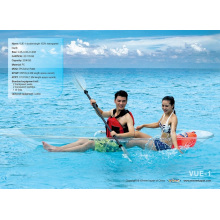 Double/Single Seaters Transparent Kayak/Boat for Seabeach