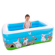 Piscinas Family Inflatable Swimming Pool outdoor,Inflatable Lounge Pool Oversize PVC Blow Up Pool for Toddler/Kiddie Summer
