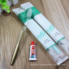 Cabelo macio barato descartável da escova de dentes do hotel