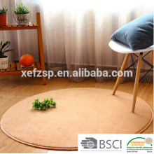 microfiber polyester washable round floor mat for yoga