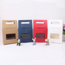 Colorful Customized Kraft Paper Gift Bags with Window
