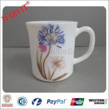 Hot New Opal Glassware Products for 2015 /White Glass Cup Heat Resistant Materials /11oz Opal Glass Mug