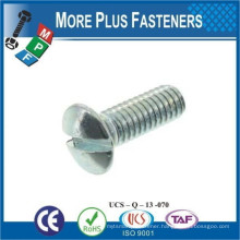 Made in Taiwan Carbon Steel Slotted Raised Countersunk Head Machine Screw DIN 964