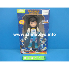 Boneca de brinquedo de plástico de venda quente com luz e som (864870)
