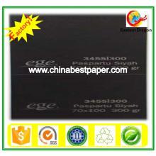 Papel de cartão preto sem revestimento 180g