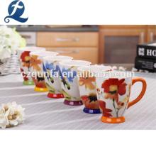 Taza de cerámica con estampado personalizado y asa