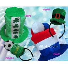 Sombrero del partido del fieltro del verde de la moda de 2012 maneras