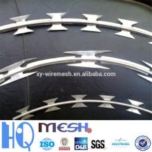 Alambre de espino de la cerradura de la seguridad / alambre del combate de la maquinilla de afeitar / alambre de la maquinilla de afeitar de la seguridad (ISO9001: 2008)